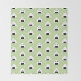 Kawaii Onigiri Rice Balls Throw Blanket
