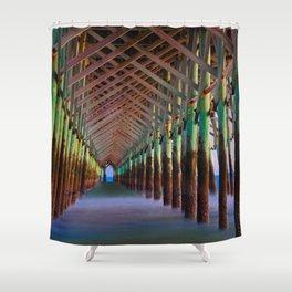 Under the Pier 1 Shower Curtain