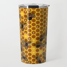 Honeycomb bee background illustration seamless pattern Travel Mug