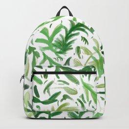 Greenery Leaf Pattern - Green Leaves Boho Decor Backpack
