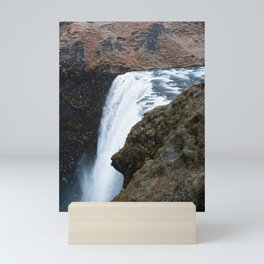 Skogafoss from Above Mini Art Print