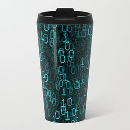 Binary Data Cloud Travel Mug
