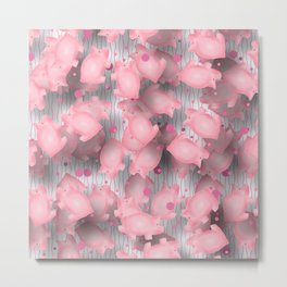 Pink Piggies Metal Print