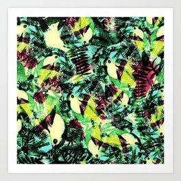 Tossed Toucan  Art Print