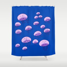 Squishy family Shower Curtain