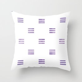Violet Purple Stripes Pattern White Backgrund Throw Pillow