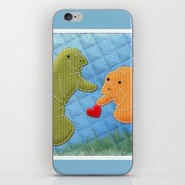 Manatee Love iPhone Skin