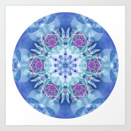 Royal Blue and Purple Mandala Art Print