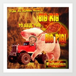 Guy Fieri in his Big Rig Art Print