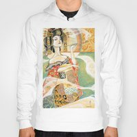 gustav klimt Hoodies featuring Klimt Oiran by Sara Richard