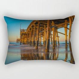 Newport Pier Morning Rectangular Pillow
