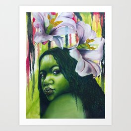 Green Lilly Art Print