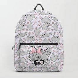 Angry Cat Candy Hearts Backpack