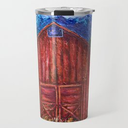 Red Barn by Lena Owens Travel Mug