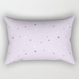 Light Lilac Polka Dots Rectangular Pillow
