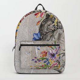 Anatomical Heart & Flowers Backpack