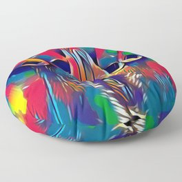 9978s-KD Abstract Yoni Pop Color Erotica Explicit Psychedelic Self Love Floor Pillow