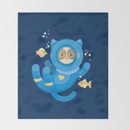 Purrfect Dive Throw Blanket