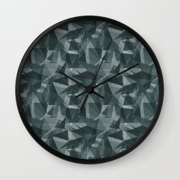 Abstract Geometrical Triangle Patterns 3 PPG Glidden Night Watch 1145-7 Wall Clock