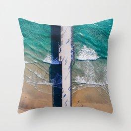 Seal Beach Pier Throw Pillow