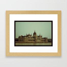 A hot day in Budapest Framed Art Print