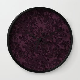 Eggplant Purple Hybrid Camo Pattern Wall Clock