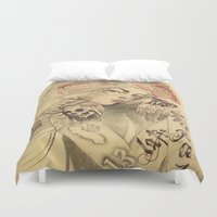 mucha Duvet Covers featuring mucha cholo by paolo de jesus