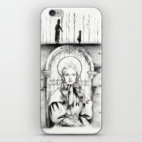 les miserables iPhone & iPod Skins featuring Les Miserables Portrait Series - Cosette by Flávia Marques