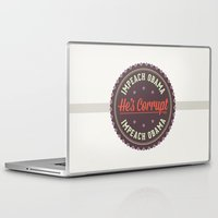 obama Laptop & iPad Skins featuring Impeach Obama by politics