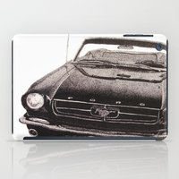 mustang iPad Cases featuring Mustang by Lindsay Carter