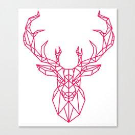 Reindeer Christmas Gift Sledge Funny Canvas Print