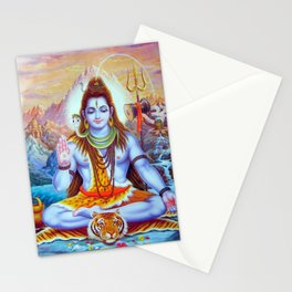 Lord Shiva Hindu Religion God Orient Spiritual Yoga Meditation Stationery Cards