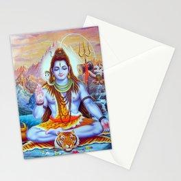 Lord Shiva Hindu Religion God Orient Spiritual Yoga Meditation Stationery Cards