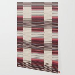 Bauhaus Stripe in Red Multi Wallpaper