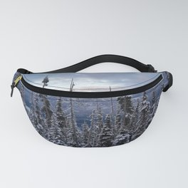 Snowy spruces frontier Fanny Pack