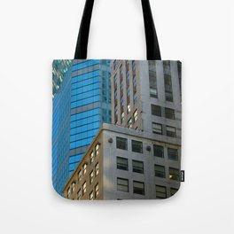 Manhattan Windows - Blue Tote Bag