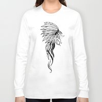 headdress Long Sleeve T-shirts featuring Headdress by Drigo
