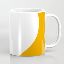 Heart (White & Orange) Coffee Mug