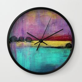 Jewel Thief - Textured Abstract Art Wall Clock