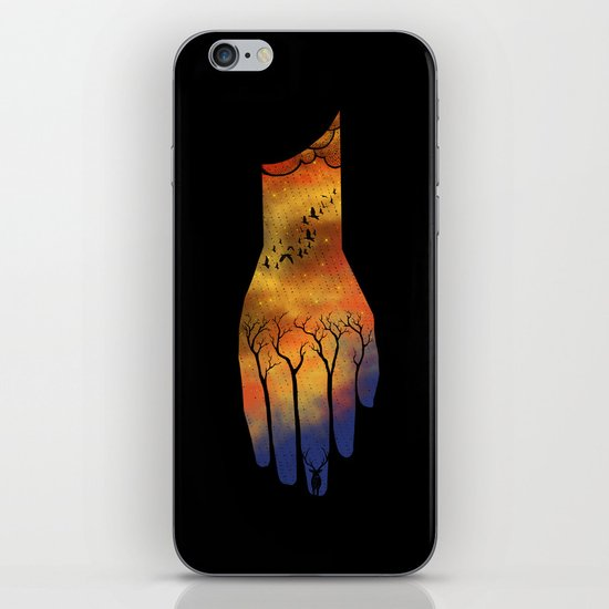 Natural hand iPhone & iPod Skin