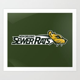 Sewer Rats Full Logo Art Print