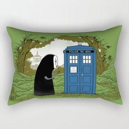 Curious Faceless Spirit Rectangular Pillow