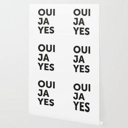 Oui, Ja, Yes Wallpaper