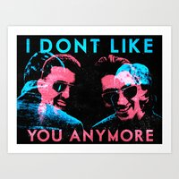 The Last Shaddow Puppets - I Don't Like You Anymore poster Art Print
