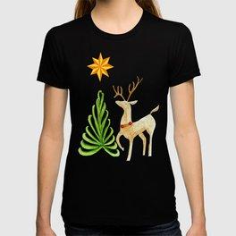 Deer near a tree, gazing at a star T-shirt