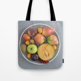 Fruits on a plate Tote Bag
