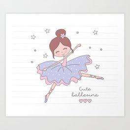 Cute Ballerina Art Print