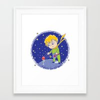 little prince Framed Art Prints featuring Little Prince by Bruna Sousa