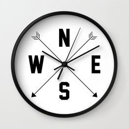 Letterman Compass Wall Clock