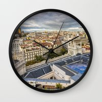 real madrid Wall Clocks featuring Madrid by Solar Designs